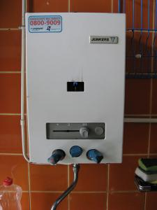 tankless water heater installed in a bathroom in Salinas CA
